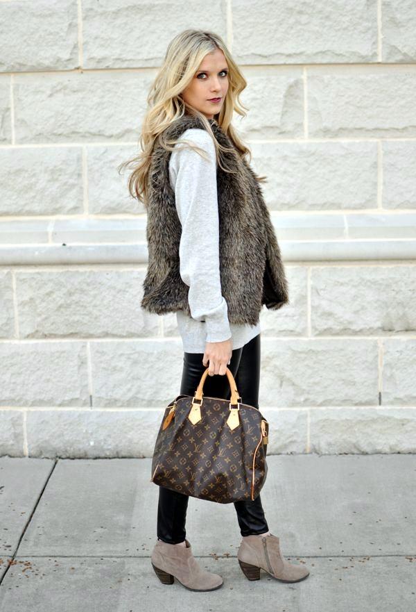 Fur Vest Outfits Ideas (18)