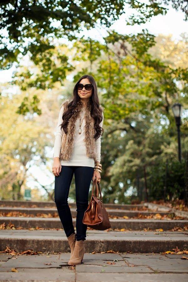 Fur Vest Outfits Ideas (19)