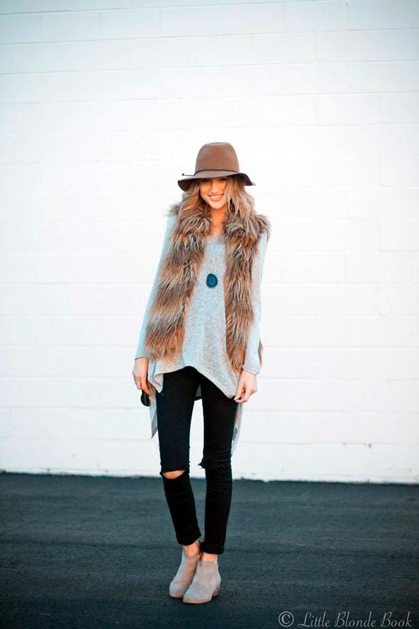 Fur Vest Outfits Ideas (2)