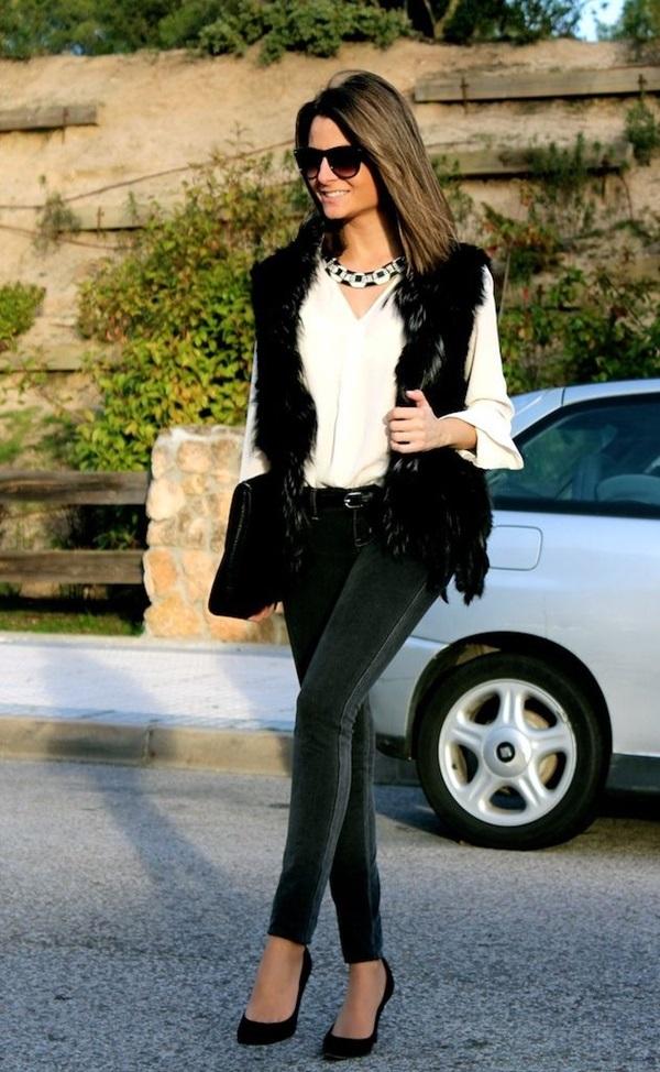 Fur Vest Outfits Ideas (20)