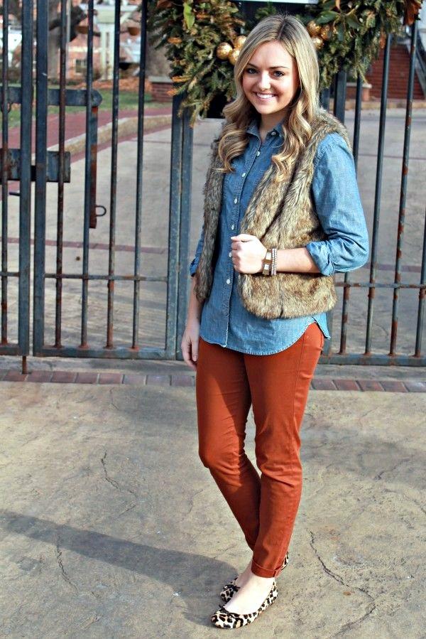 Fur Vest Outfits Ideas (22)