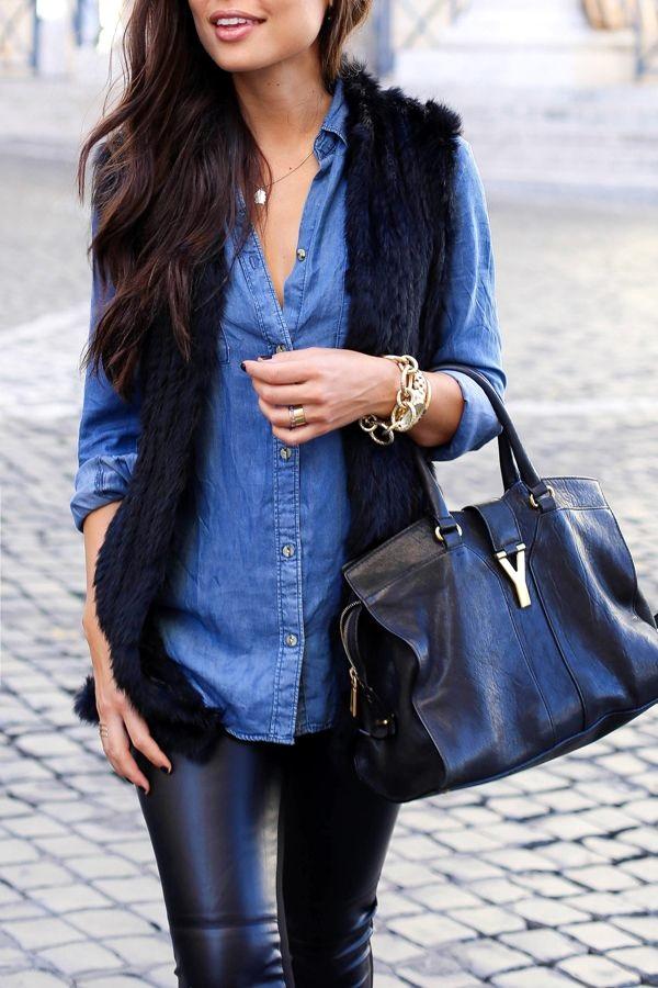 Fur Vest Outfits Ideas (23)