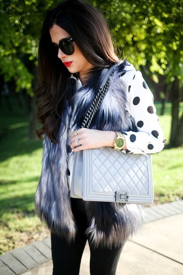 Fur Vest Outfits Ideas (26)