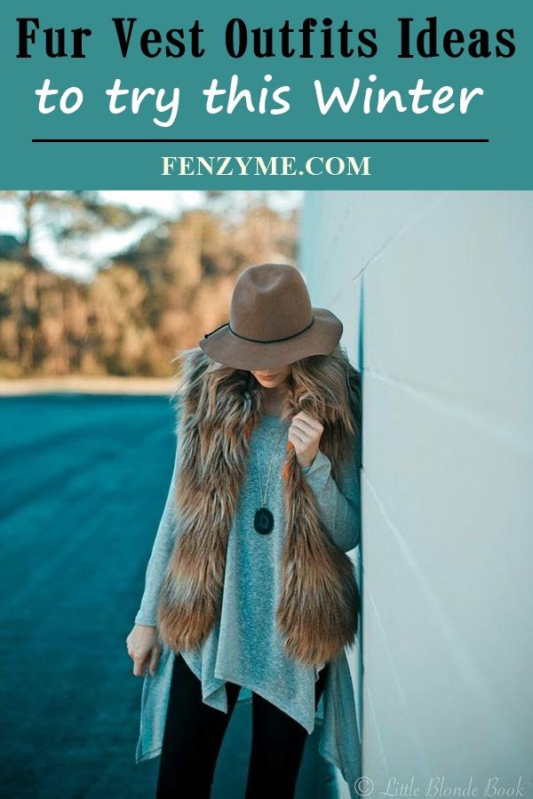 Fur Vest Outfits Ideas (28)