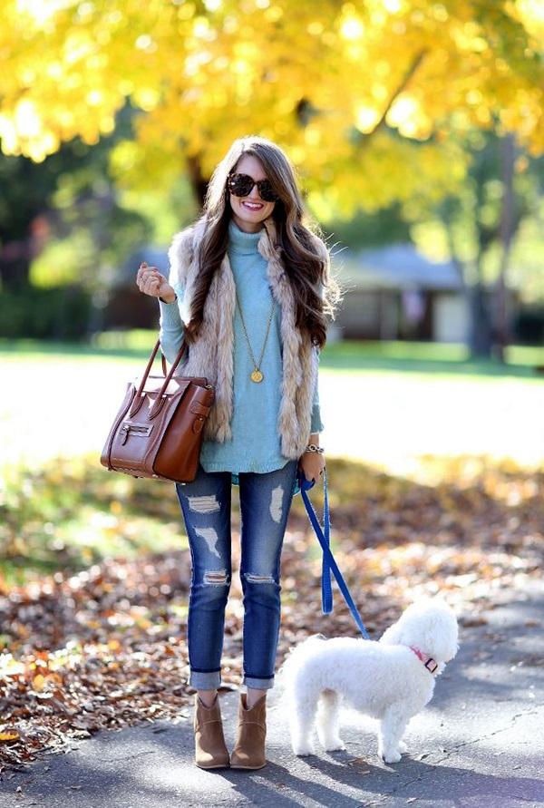Fur Vest Outfits Ideas (30)
