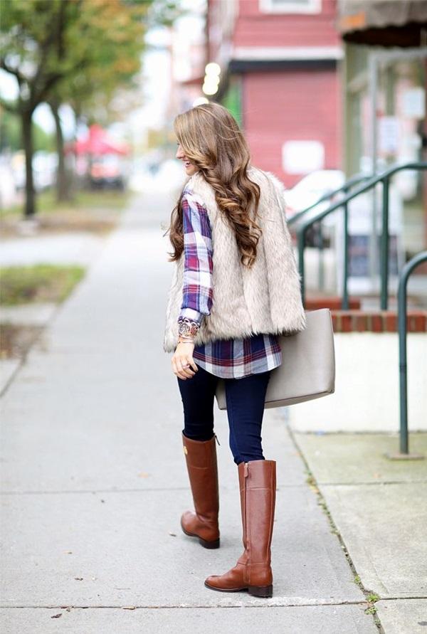 Fur Vest Outfits Ideas (31)