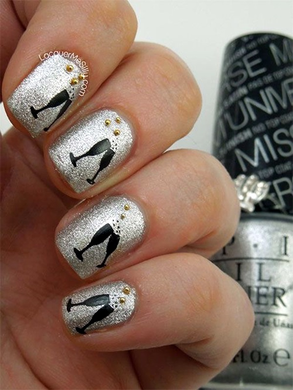 New Years Eve Nails Designs and Ideas (4)