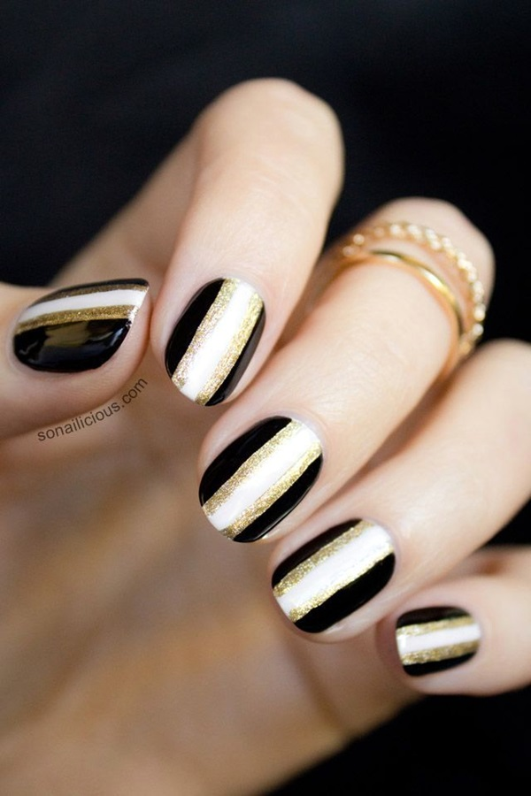 55 Easy New Years Eve Nails Designs and Ideas 2018