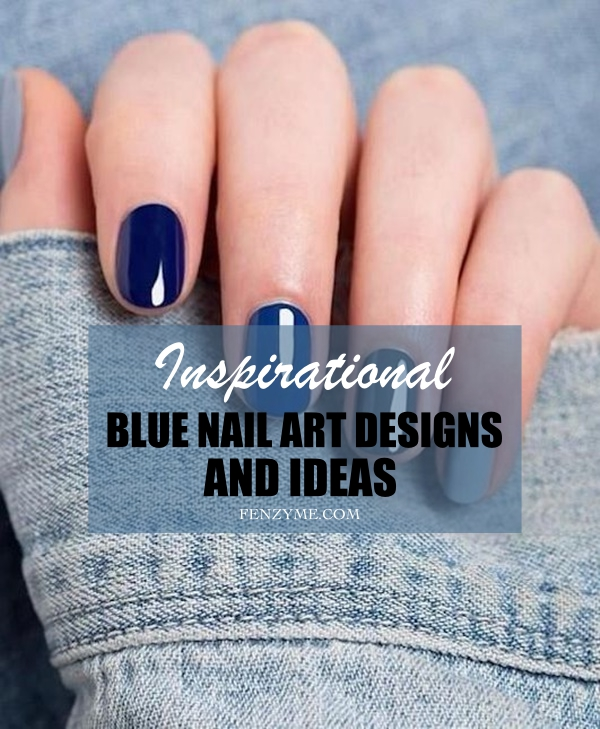Blue Nail Art Designs and Ideas (1.1)y