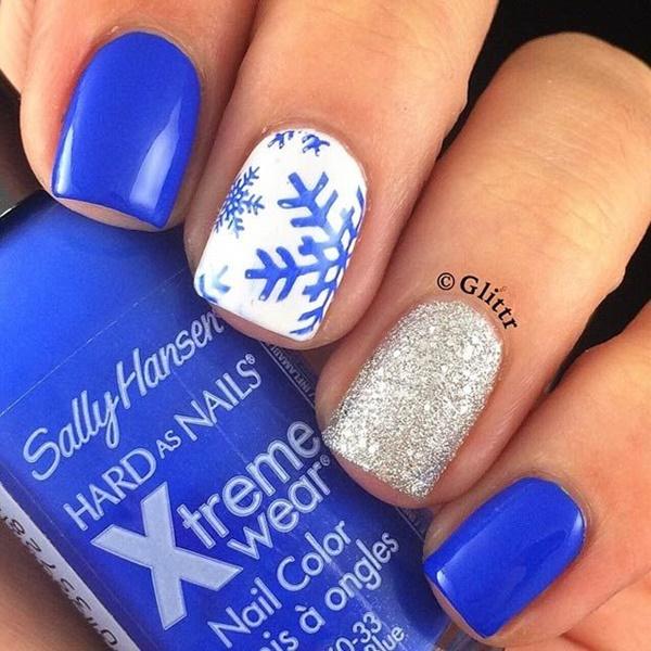 Blue Nail Art Designs and Ideas (1)