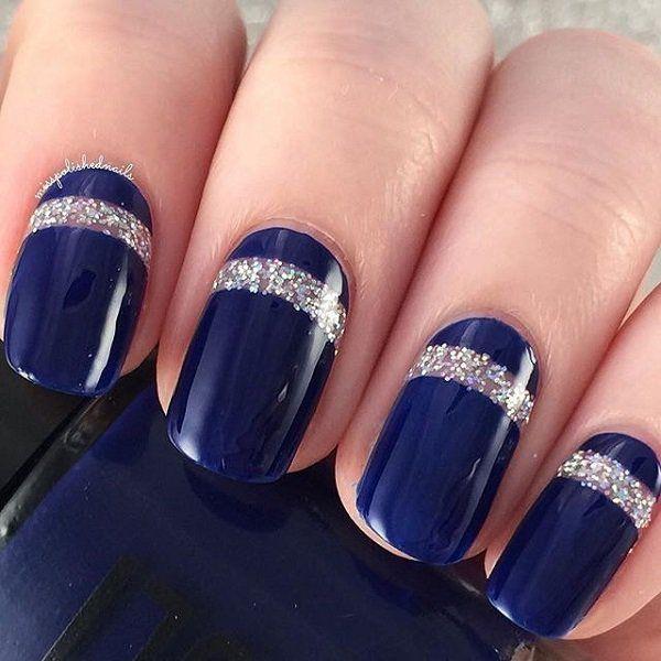 Blue Nail Art Designs and Ideas (11)