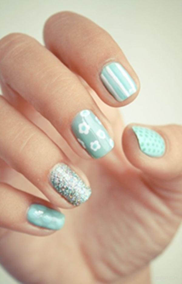 Blue Nail Art Designs and Ideas (13)