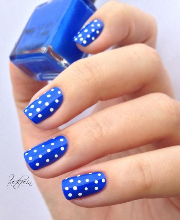Blue Nail Art Designs and Ideas (14)