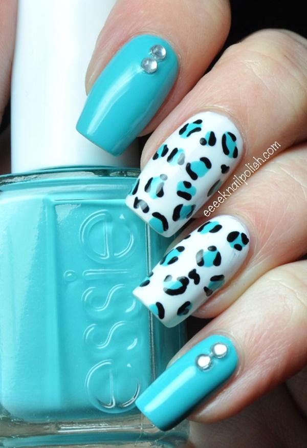 Blue Nail Art Designs and Ideas (15)