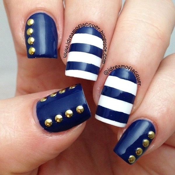 Blue Nail Art Designs and Ideas (17)