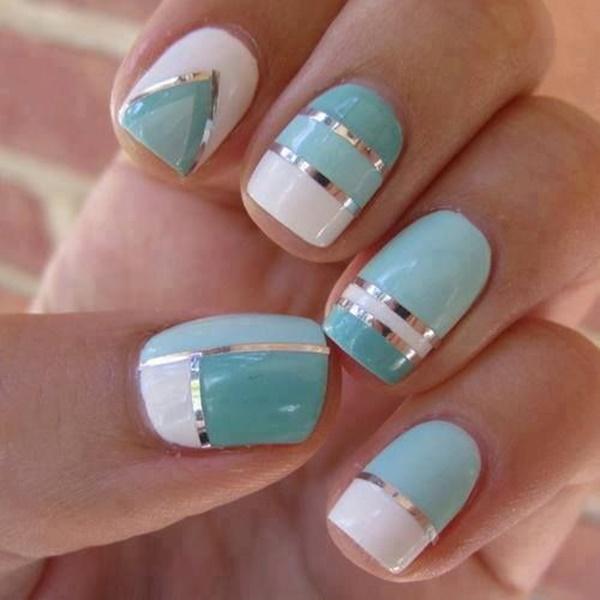 Blue Nail Art Designs and Ideas (18)