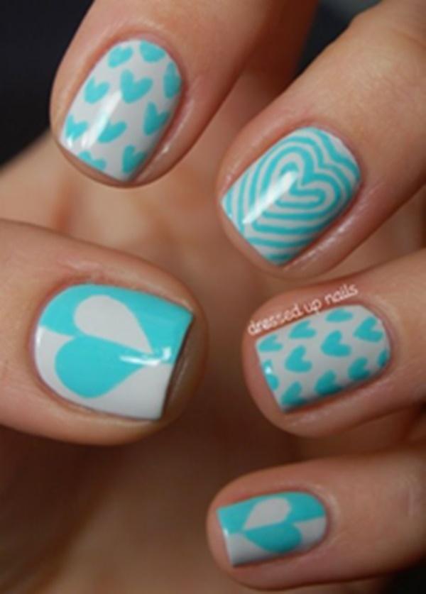 Blue Nail Art Designs and Ideas (19)
