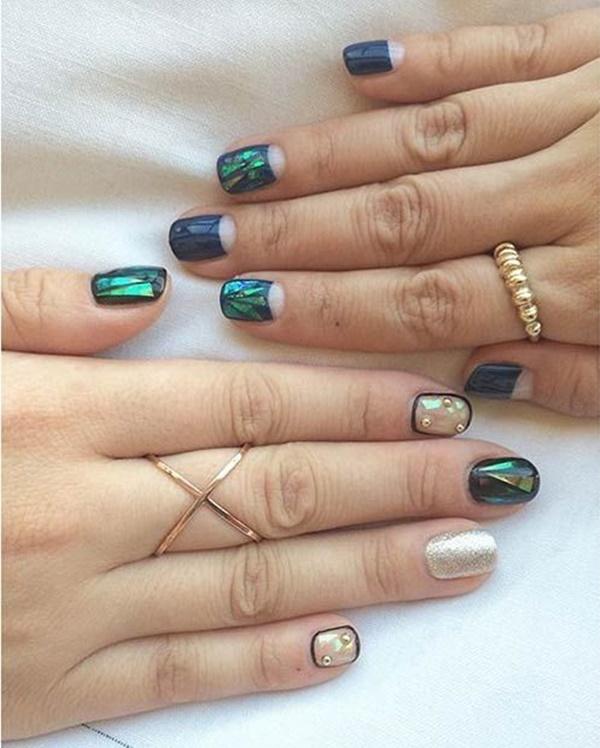 Blue Nail Art Designs and Ideas (2)
