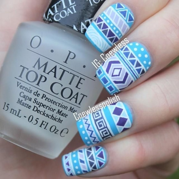 Blue Nail Art Designs and Ideas (20)