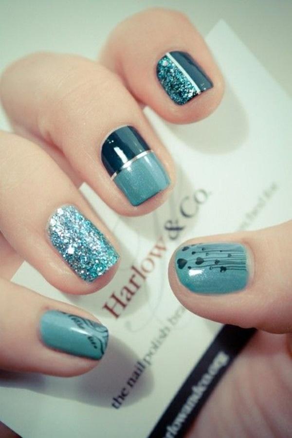 Blue Nail Art Designs and Ideas (23)