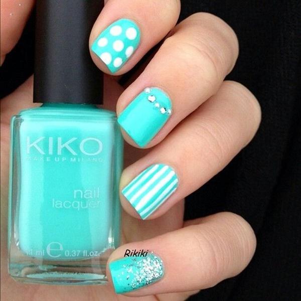 Blue Nail Art Designs and Ideas (24)