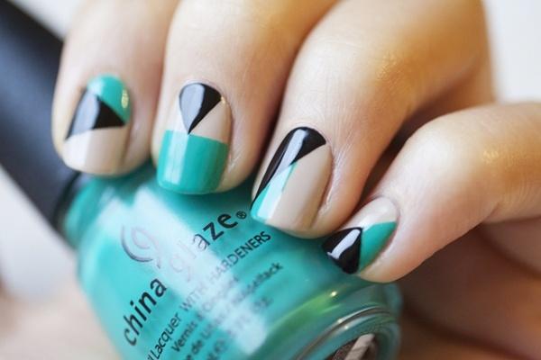 Blue Nail Art Designs and Ideas (26)