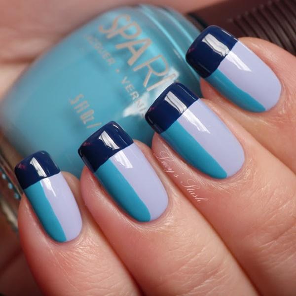 Blue Nail Art Designs and Ideas (27)