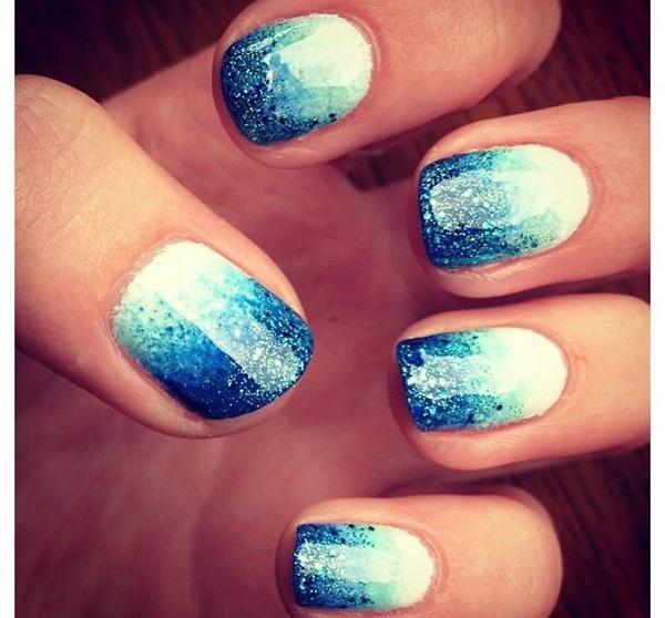 Blue Nail Art Designs and Ideas (31)