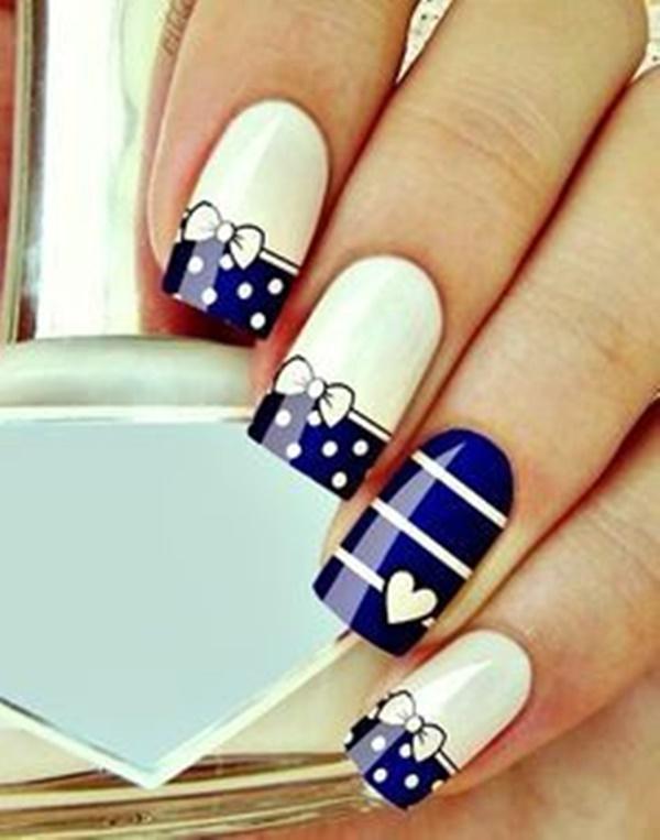 Blue Nail Art Designs and Ideas (32)