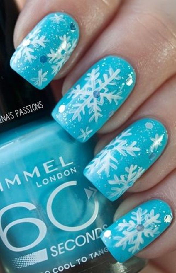 Blue Nail Art Designs and Ideas (34)