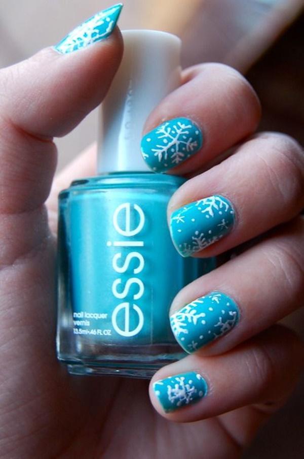 Blue Nail Art Designs and Ideas (35)