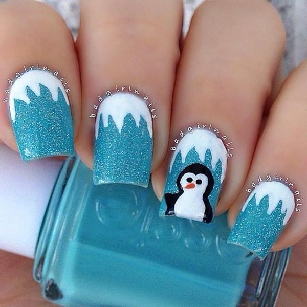 Blue Nail Art Designs and Ideas (37)