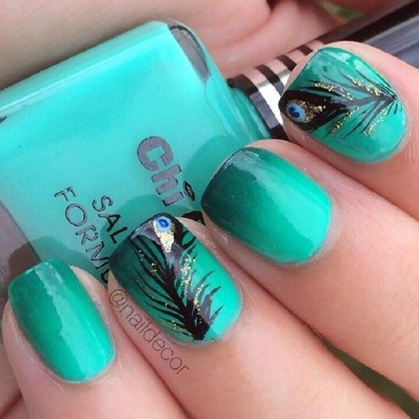 Blue Nail Art Designs and Ideas (39)