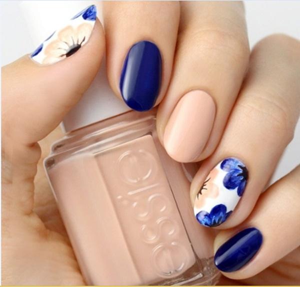Blue Nail Art Designs and Ideas (4)
