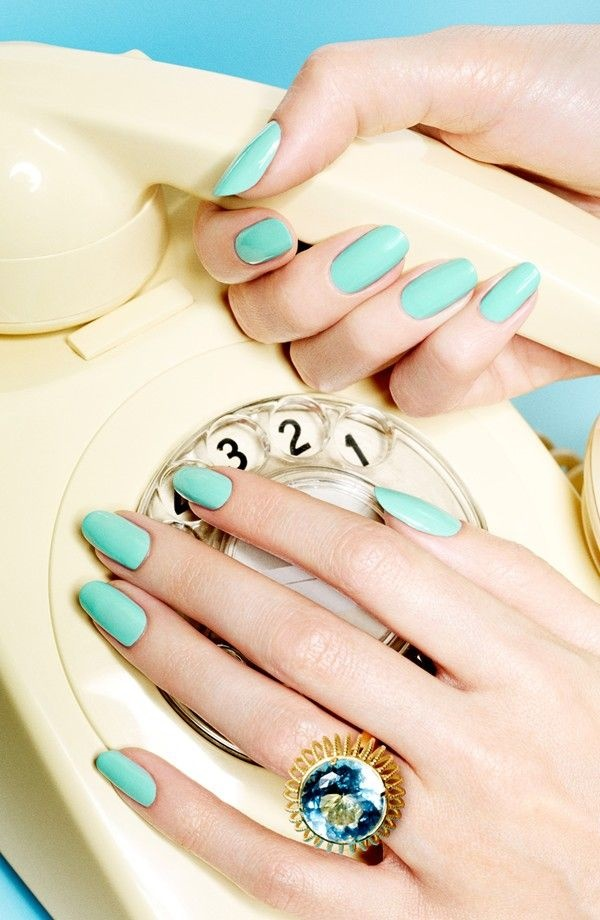 Blue Nail Art Designs and Ideas (40)
