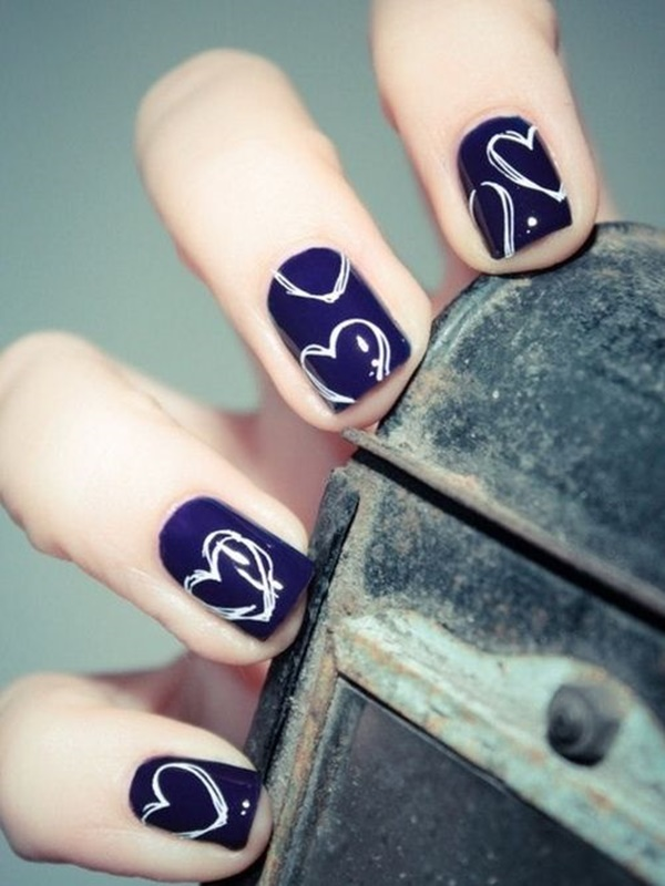 Blue Nail Art Designs and Ideas (42)