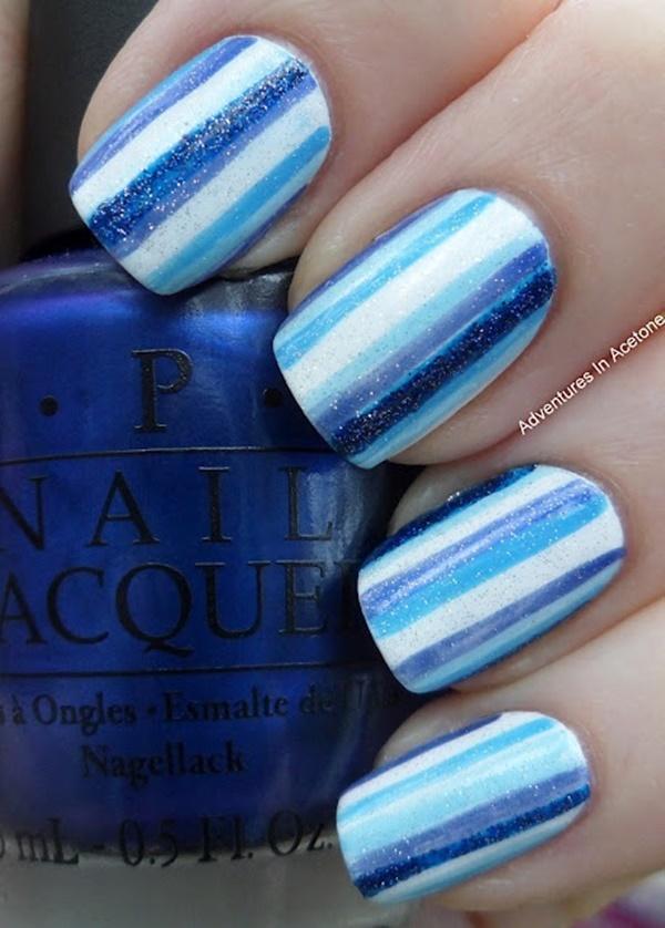 Blue Nail Art Designs and Ideas (43)