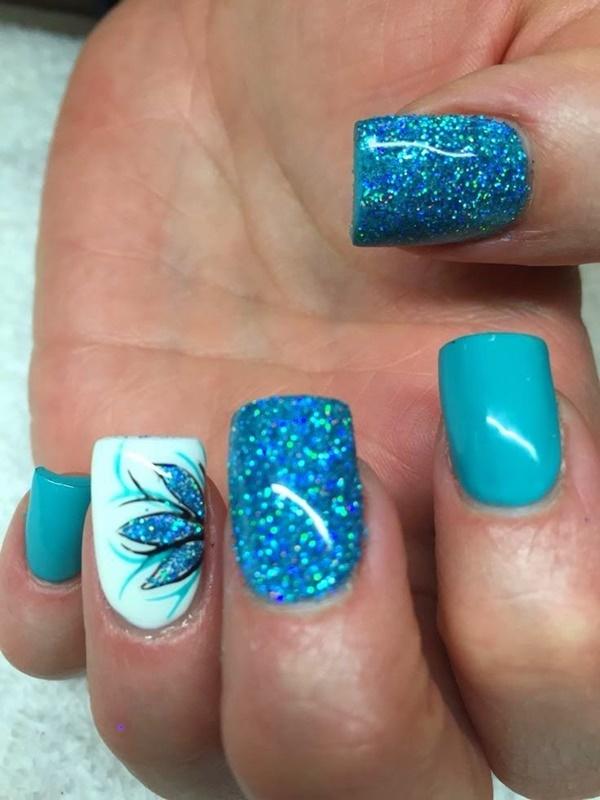 Blue Nail Art Designs and Ideas (45)