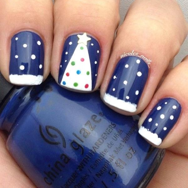 Blue Nail Art Designs and Ideas (46)