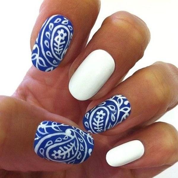Blue Nail Art Designs and Ideas (50)