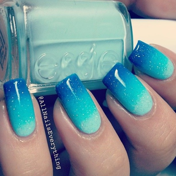 Blue Nail Art Designs and Ideas (55)