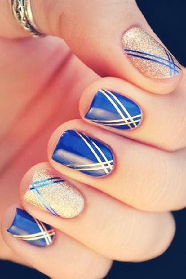 Blue Nail Art Designs and Ideas (7)