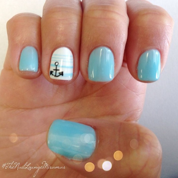 Blue Nail Art Designs and Ideas (8)