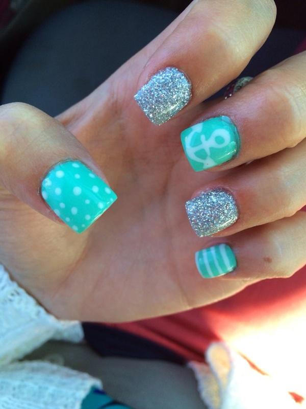 Blue Nail Art Designs and Ideas (9)