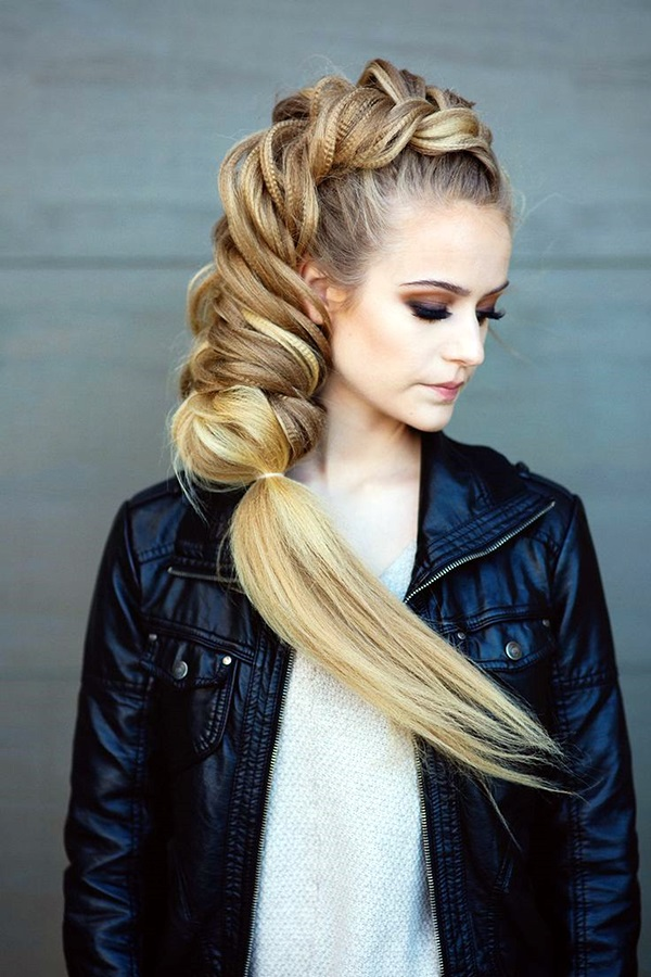 Easy Hairstyles for Long Thick Hair (2)