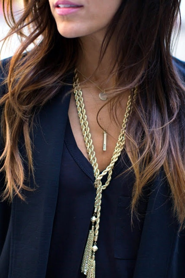 Cute and Simple Gold Necklace Designs (2)