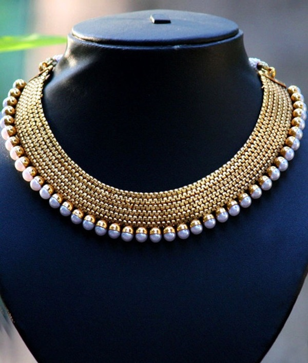 Cute and Simple Gold Necklace Designs (29)