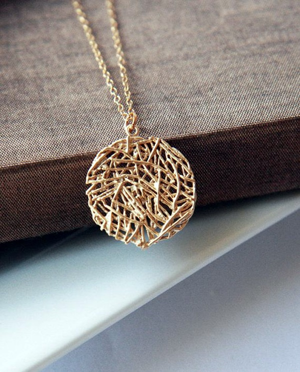 Cute and Simple Gold Necklace Designs (30)