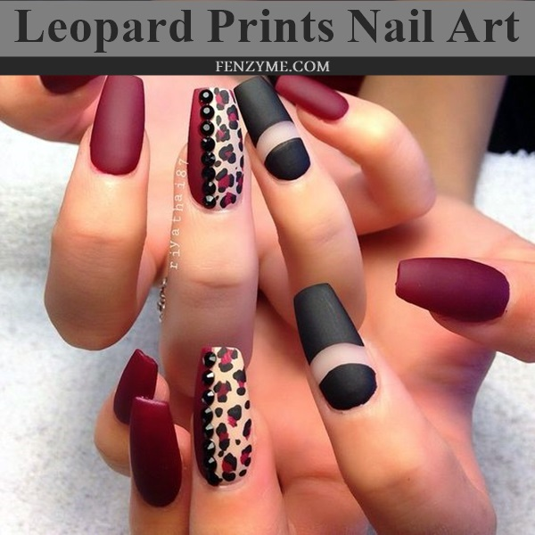 Leopard Prints Nail Art (1)