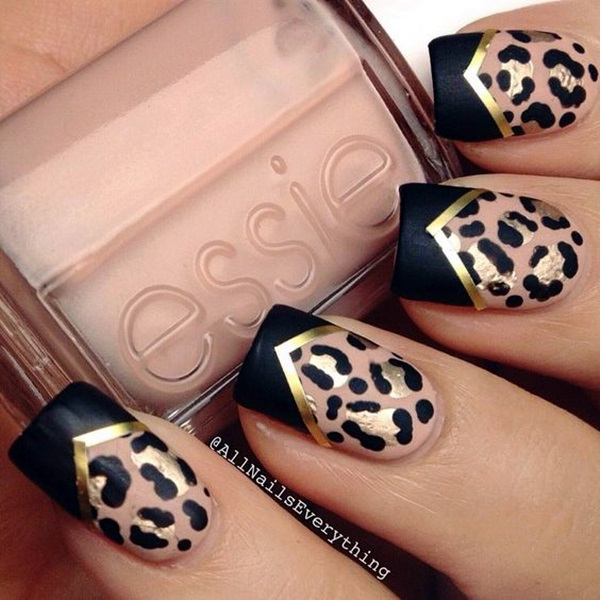 Leopard Prints Nail Art (15)